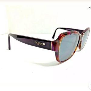 Coach Purple Confetti Sunglasses